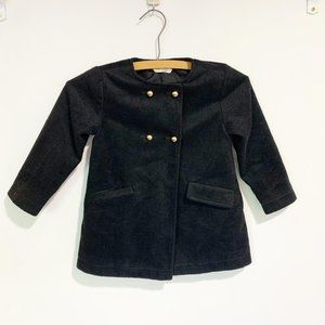 Crazy 8 Double Breasted Peacoat Black Size 3t Gold Buttons